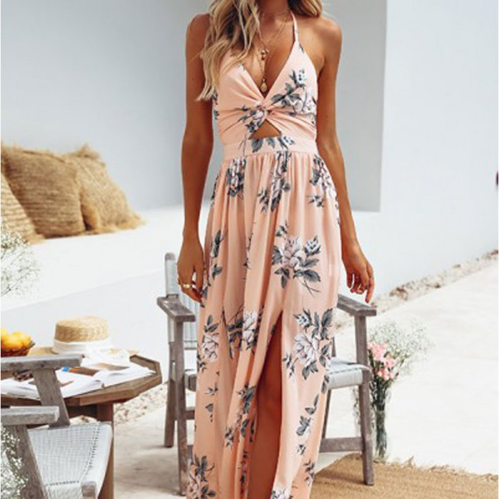 Y Long Beach Dress Women Fl